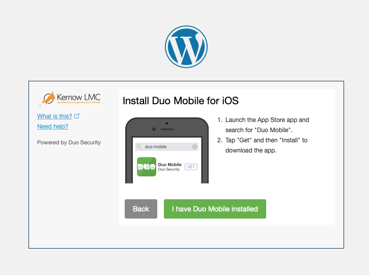 Kernow LMC Pastoral Support Two Factor Authentication Step Five Install Duo Mobile
